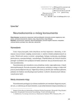 Neuroekonomia a mózg konsumenta
