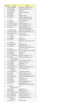 Lista Najemcow Focus Mall