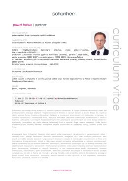Halwa Pawel, CV, schoenherr, pl