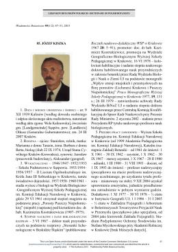 85. Józef Kiszka