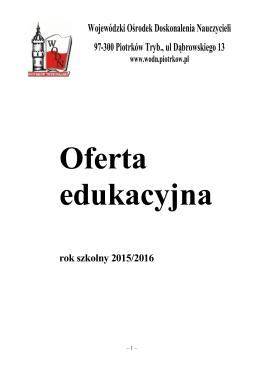Oferta Ośrodka 2015/2016 - WODN
