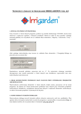 IRRIGARDEN 4.0 - nowości i zmiany