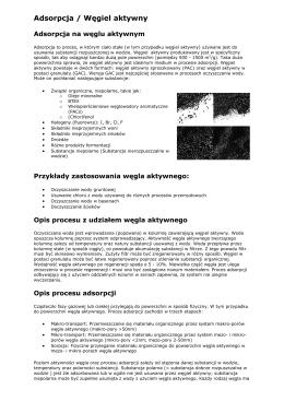 Adsorpcja / Węgiel aktywny