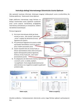 Instrukcja obsługi internetowego Dzienniczka Ucznia Optivum