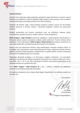 Sprawozdanie z przejrzystości działania - 2015