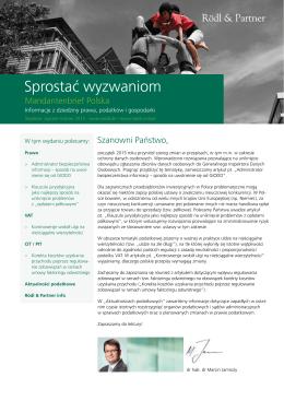 Rödl & Partner Auslandsbrief Mai 2013