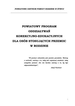 program oddzialywan korekcyjno-edukacyjnych