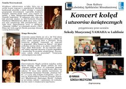 Koncert kolęd - Dom Kultury LSM