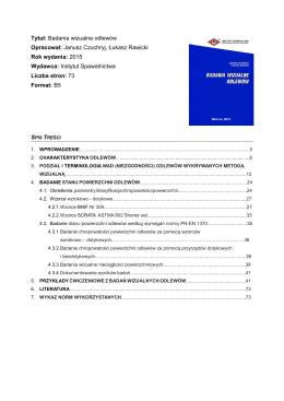Tytuł: Badania penetracyjne