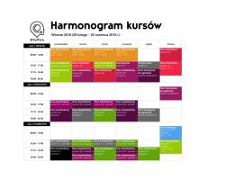 Harmonogram kursów