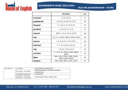 Kurs dla przedszkolanek – A2/B1