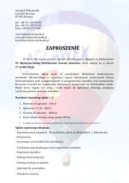 Zaproszenie na XV MWZB 2015_wersja_z_dnia_06.05