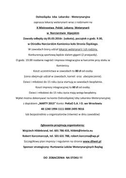 X Mistrzostwa Narty DIL-Wet - Dolnośląska Izba Lekarsko