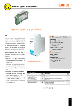 Separator sygnału wizji typu SSW-*/*