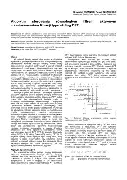 Algorytm sterowania równoległym filtrem aktywnym z