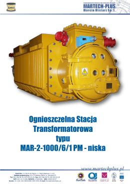 Ognioszczelna Stacja Transformatorowa typu MAR-2