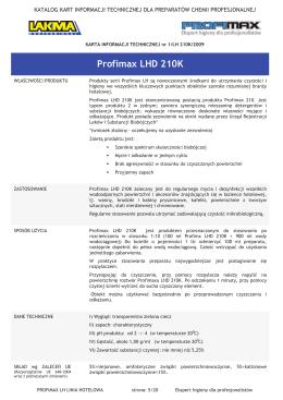 Profimax LHD 210K - Dezynfekcja24.pl