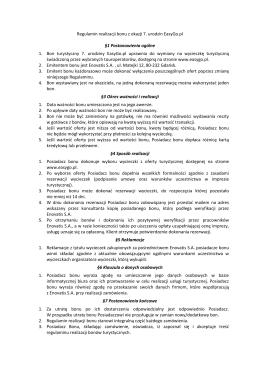 Regulamin realizacji bonu z okazji 7. urodzin EasyGo.pl §1