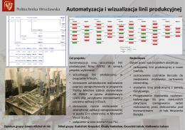 Automatyzacja i wizualizacja linii produkcyjnej