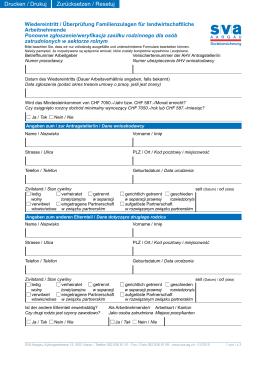 Wiedereintritt / Überprüfung Familienzulagen für