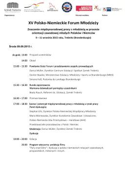 XV Polsko-Niemieckie Forum Młodzieży