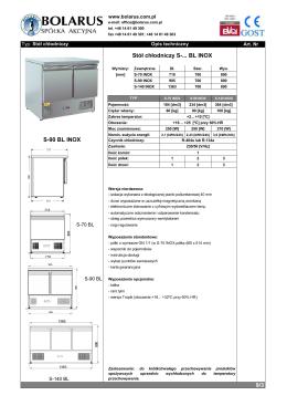 9/3 S-90 BL INOX Stół chłodniczy S