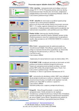 Pracownia napraw układów diesla 2015 VP44