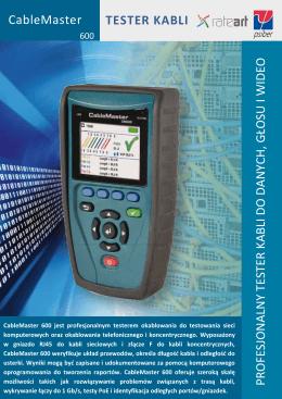 Specyfikacja testera CableMaster 600