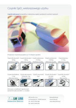 Czujniki wielorazowe SpO2 – folder PDF