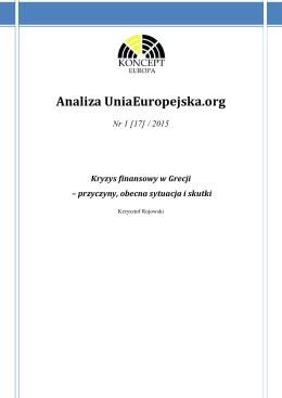 2015: Krzysztof Rojowski, Kryzys ekonomiczny w Grecji