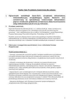 1. Opracowanie metodologii (know-how) zarządzania infrastrukturą