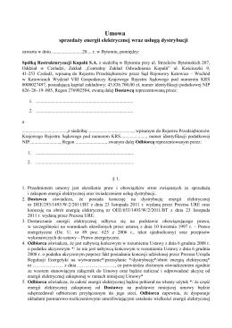 Umowa o sprzedaż C11 - Spółka Restrukturyzacji Kopalń S.A.