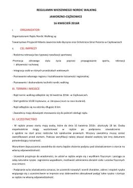 Regulamin - KB MCKiS Jaworzno
