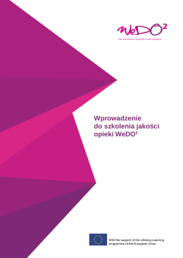 Wprowadzenie do szkolenia jakości opieki WeDO2