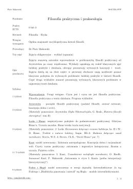Filozofia praktyczna i prakseologia