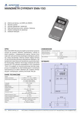 MANOMETR CYFROWY EMA-150
