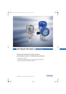 OPTIBAR PM 5060 C Karta katalogowa