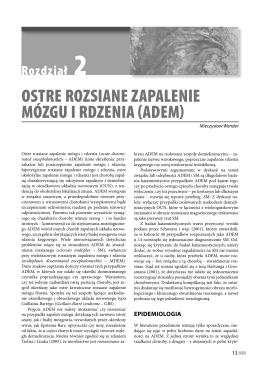 OSTRE ROZSIANE ZAPALENIE MÓZGU I RDZENIA (ADEM)
