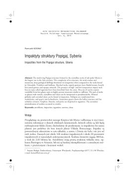 Impaktyty struktury Popigaj, Syberia