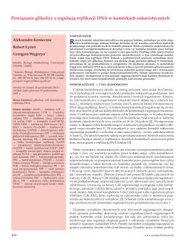 Powiązanie glikolizy z regulacją replikacji DNA w komórkach