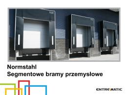 Bramy przemysłowe segmentowe Normstahl - M