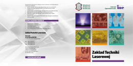 Zakład Techniki Laserowej - Instytut Optoelektroniki WAT