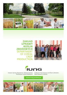 zakład uprawy roślin zbożowych department of cereal crop production