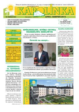 LIPIEC–SIERPIEŃ 2015 - Spółdzielnia Mieszkaniowa im. 23 Lutego