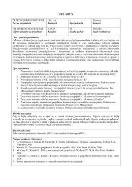 SYLABUS - maciejczak.pl