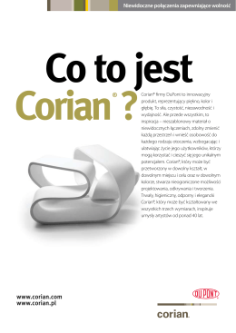 CORIAN co to jest