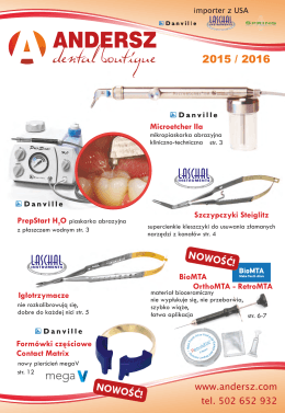 Katalog 2015/2016 - Andersz Dental Boutique