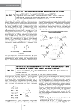 Borano- i selenofosforanowe analogi końca 5` mRNA