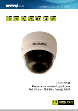 Inteligentna platforma CCTV IFD820V1IR Stacjonarna kamera