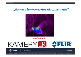 """""""Kamery termowizyjne dla przemysłu"""""""